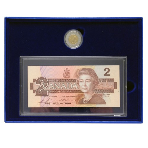 1996 Canada's $2 Proof Coin & BRX Replacement Bank Note Set