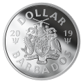 2019 Barbados $1 The Bat Signal™ Fine Silver Dollar Coin (Glow-in-the-Dark)