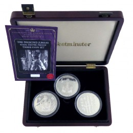 2012 Fiji $10 Queen Elizabeth II Diamond Jubilee 65mm Silver Proof Three Coin Set