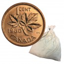 1960 Canadian 1-Cent Maple Leaf Twig Penny 2000-Coin Original Bank Deposit Bag (Brilliant Uncirculated)