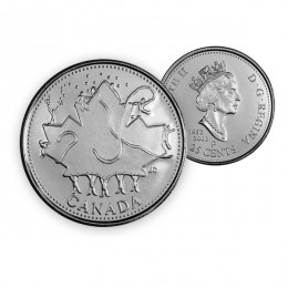 2002 P Canada Day 25 Cent Circulation Coin - 135th Anniversary (Brilliant Uncirculated)