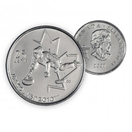 2007 Canada Vancouver 2010 Olympics 25-cent Curling (Brilliant Uncirculated)