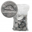 1963-1981 Canadian 5-Cent Beaver 100% Nickel 5 lb (2.3 kg) Bulk Circulated Coin Lot