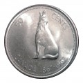 1967 (1867-) Canadian 50-Cent Howling Wolf Confederation Centennial Silver Half Dollar Coin (EF or better)