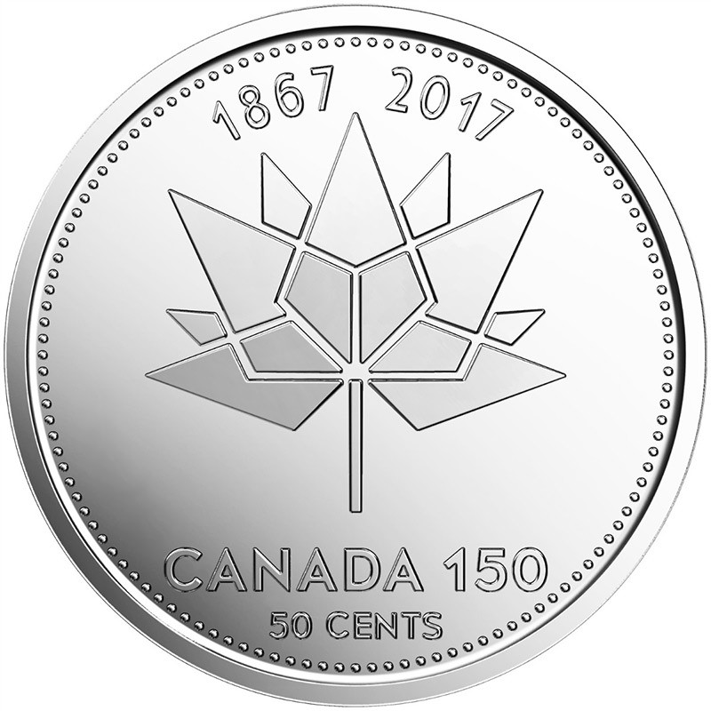 2017 1867 Canadian 50 Cent Canada 150 Official Logo Half Dollar
