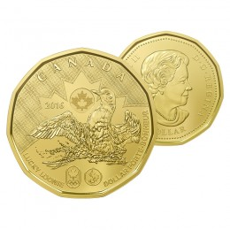 2016 Canadian $1 Olympic Lucky Loonie Dollar (Brilliant Uncirculated)