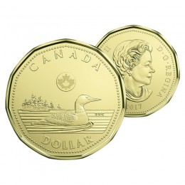 2017 Canadian $1 Common Loon Dollar Coin (Brilliant Uncirculated)