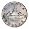1937 Canadian $1 Voyageur Silver Dollar Coin (Circulated)