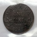 1923 Canadian 1-Cent Small Penny Coin ICCS Graded MS-60