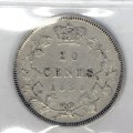 1858 Canadian 20 Cents Silver Coin ICCS Graded VF-20
