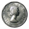 1955 Canadian 5-Cent Beaver Nickel Coin (Brilliant Uncirculated)