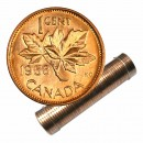 1958 Canadian 1-Cent Maple Leaf Twig Penny Roll in Coin Tube (Brilliant Uncirculated)