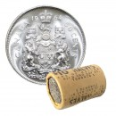 1964 Canadian 50-Cent Coat of Arms Silver Half Dollar Original Coin Roll