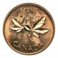 1965 Canadian 1-Cent Maple Leaf Twig Penny Original Coin Roll