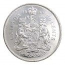 1966 Canadian 50-Cent Coat of Arms Silver Half Dollar Coin (Brilliant Uncirculated)