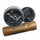 1967 (1867-) Canadian 5 Cents Confederation Centennial Rabbit/Hare Nickel Original Coin Roll
