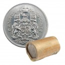 1970 Canadian 50-Cent Coat of Arms Half Dollar Original Coin Roll