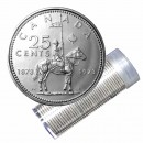 1973 (1873-) Canadian 25-Cent RCMP Mounted Police Centennial Quarter Roll in Coin Tube (Brilliant Uncirculated)