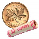 1979 Canadian 1-Cent Maple Leaf Twig Penny Original Coin Roll