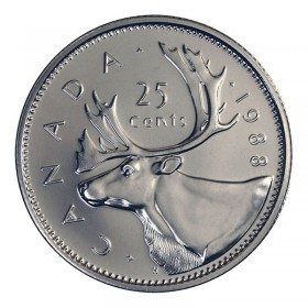 1988 Canadian 25-Cent Caribou Quarter Coin (Brilliant Uncirculated)