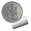 1988 Canadian 50-Cent Coat of Arms Half Dollar Original Coin Roll