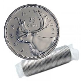 1991 Canadian 25-Cent Caribou Quarter Original Coin Roll