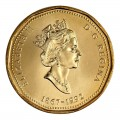 1992 (1867-) Canadian $1 Parliament/Confederation 125th Anniv Loonie Dollar Coin (Brilliant Uncirculated)