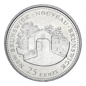 1992 (1867-) Canadian 25-Cent New Brunswick Confederation 125th Anniv/Provincial Quarter Coin (Brilliant Uncirculated)