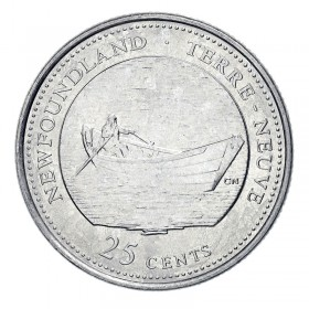 1992 (1867-) Canadian 25-Cent Newfoundland Confederation 125th Anniv/Provincial Quarter Coin (Brilliant Uncirculated)