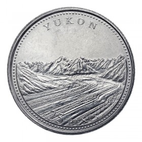 1992 (1867-) Canadian 25-Cent Yukon Confederation 125th Anniv/Provincial Quarter Coin (Brilliant Uncirculated)