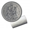 1992 (1867-) Canadian 50-Cent Coat of Arms/Confederation Half Dollar Original Coin Roll