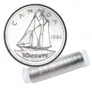 1994 Canadian 10-Cent Bluenose Schooner Dime Original Coin Roll