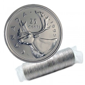 1995 Canadian 25-Cent Caribou Quarter Original Coin Roll