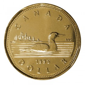 1996 Canadian $1 Common Loon Dollar (Brilliant Uncirculated)