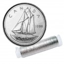 1996 Canadian 10-Cent Bluenose Schooner Dime Original Coin Roll