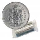 1996 Canadian 50-Cent Coat of Arms Half Dollar Original Coin Roll