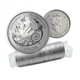 2000 Canadian 25-Cent Achievement: The Power to Excel Millennium Quarter Original Coin Roll