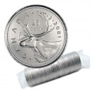 2001-P Canadian 25-Cent Caribou Quarter Original Coin Roll