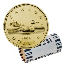 2004 Canadian $1 Common Loon Dollar Original Coin Roll