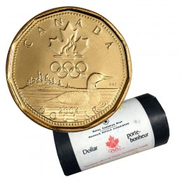 2004 Canadian $1 Olympic Lucky Loonie Dollar Original Mint Coin Roll