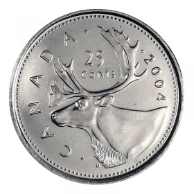 2004-P Canadian 25-Cent Caribou Quarter Coin (Brilliant Uncirculated)