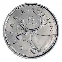 2005-P Canadian 25-Cent Caribou Quarter Coin (Brilliant Uncirculated)