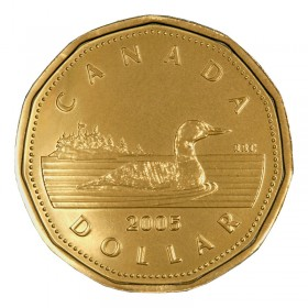 2005 Canadian $1 Common Loon Dollar (Brilliant Uncirculated)