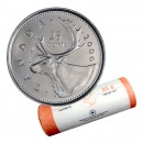 2006-P Canadian 25-Cent Caribou Quarter Original Coin Roll