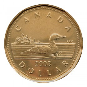 2008 Canadian $1 Common Loon Dollar (Brilliant Uncirculated)