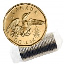 2008 Canadian $1 Olympic Lucky Loonie Dollar Original Coin Roll