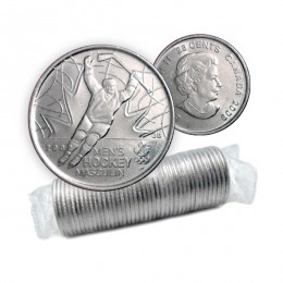 2009 Canadian 25-Cent Golden Moments: Men's Ice Hockey Quarter Original Coin Roll (Non-Coloured)
