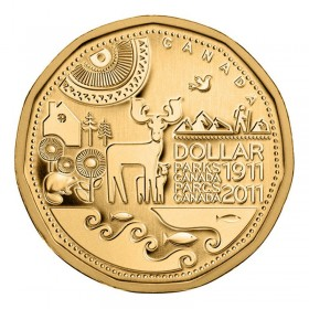 2011 (1911-) Canadian $1 Parks Canada Centennial Loonie Dollar Coin (Brilliant Uncirculated)