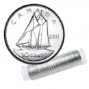 2011 Canadian 10-Cent Bluenose Schooner Dime Original Coin Roll