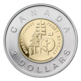 2011 Canadian $2 Boreal Forest Toonie Coin (Brilliant Uncirculated)